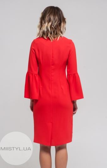 Платье November 40106 Красно-оранжевый