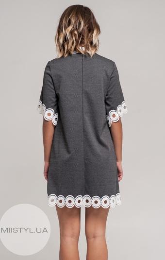 Платье Nikolo Polini 2024 Черный/Белый/Принт