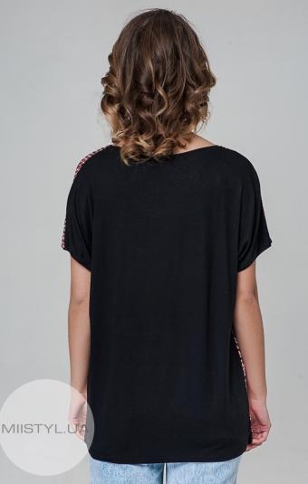 Блуза PB 2607 Черный/Коралловый/Принт