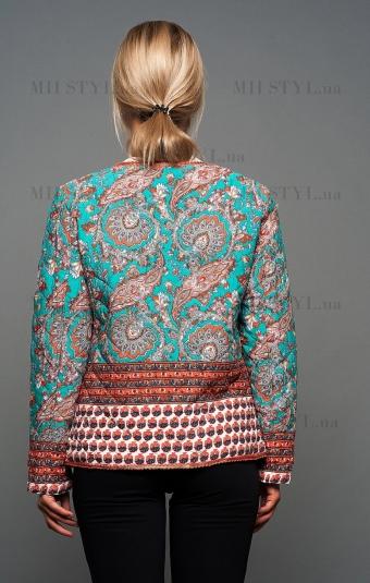 Куртка GT 15-4 бирюзово/оранжевая