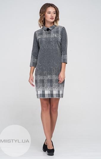 Платье Lafilazzi 3427 Серый/Темно-серый/Клетка