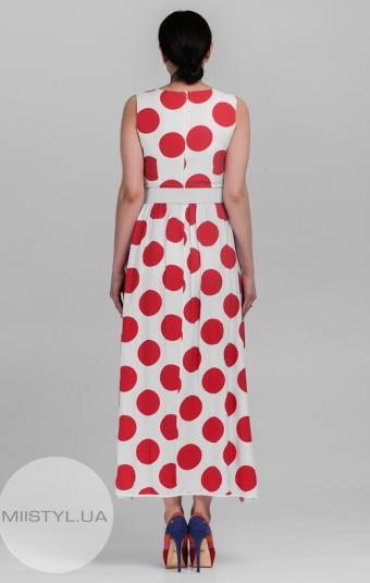 Платье La Julyet 5915 Коралловый/Горох