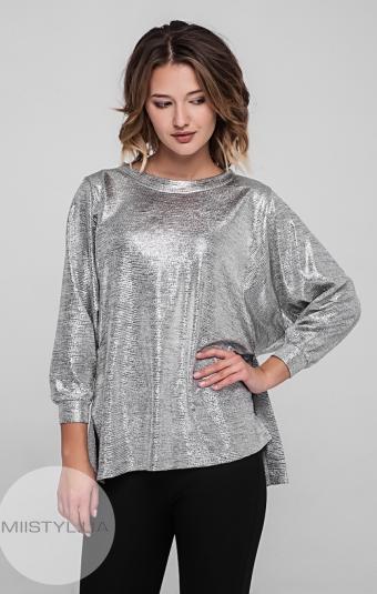 Блуза Cliche 36421811 Серебристый