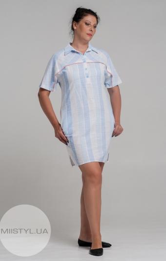 Туника Lady Morgana 5474 Белый/Голубой/Полоска
