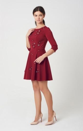 Платье Rica Mare RM1650-16VC Марсала