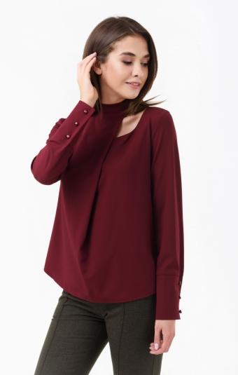 Блуза RM1843-18DB Бордовый