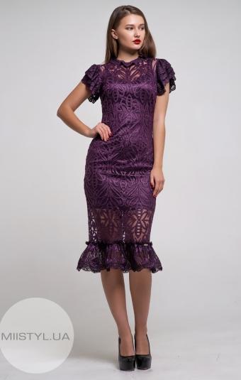Платье Green World 7159 Баклажановый/Люрекс