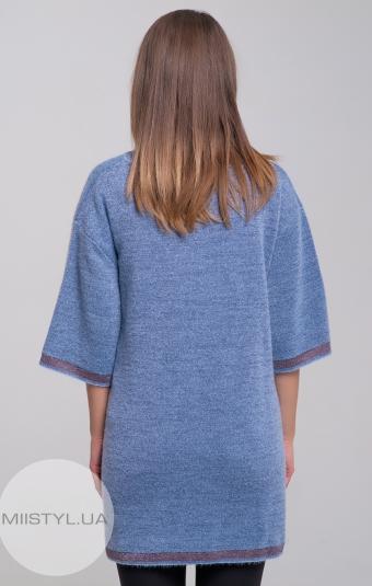 Джемпер короткий рукав Serianno 10C4516 Голубой/Люрекс