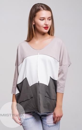 Блуза Giocco 5324 Бежевый/Молочный