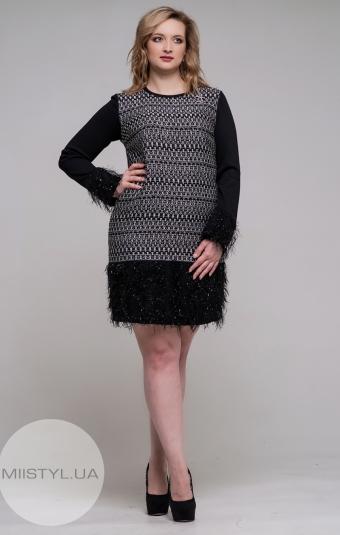 Платье La Julyet 6228-1 Черный/Принт