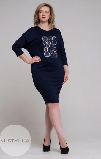 Платье Macca 9WT803B Темно-синий