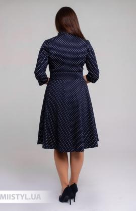Платье L.Hotse 5851 Темно-синий/Белый/Горох