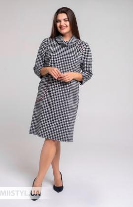 Платье Perzoni 8394B Черный/Белый/Лапка