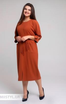 Платье DZYN 7925B Терракотовый