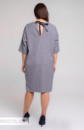 Платье Nikolo Polini 3054 Синий/Лапка