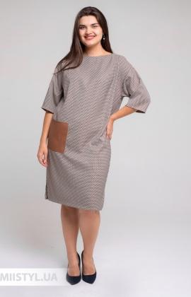 Платье Nikolo Polini 3054 Бежевый/Лапка
