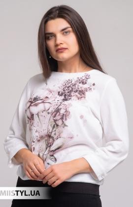 Блуза Merkur 0626054 Молочный/Коричневый/Принт