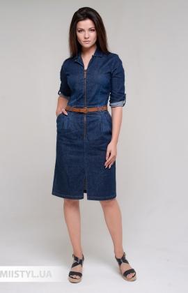 Платье Sisline 4704 Джинсовый