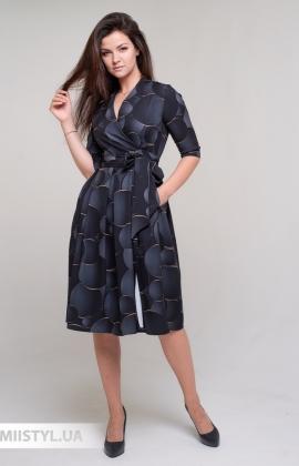 Платье La Fama 1605 Черный/Серый/Принт