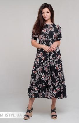 Платье Bebe plus 24870 Черный/Бежевый/Принт