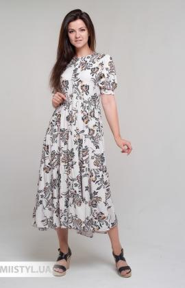 Платье Bebe plus 24870 Бежевый/Черный/Принт