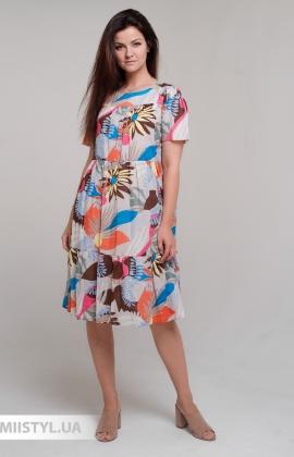 Платье  Bebe plus 25188 Бежевый/Принт