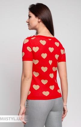 Джемпер короткий рукав Beauty Women 756B Красный