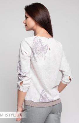 Блуза Cliche 4144740 Бежевый/Пудра/Принт