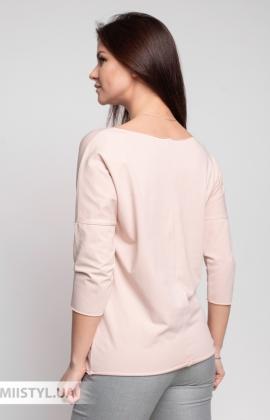 Блуза Giocco 5656 Пудра/Серебристый