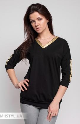 Блуза Giocco 5661 Черный/Золотой
