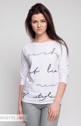 Блуза Giocco 5656 Белый/Серебристый