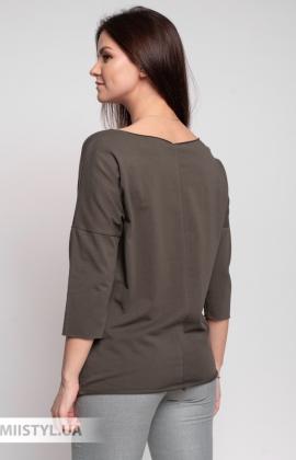 Блуза Giocco 5658 Хаки/Принт