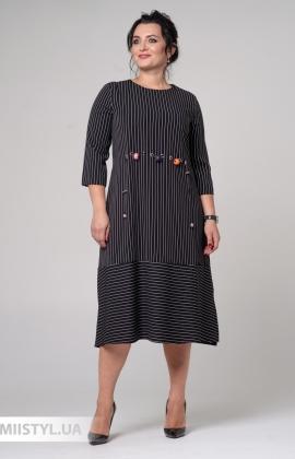 Платье CHARMING 29599 Черный/Белый/Полоска