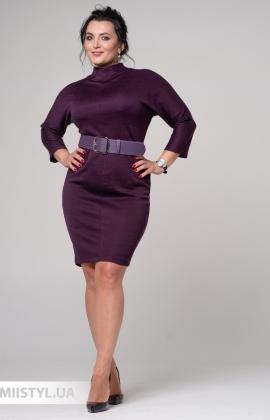 Платье F&K 3397-B Баклажановый/Меланж