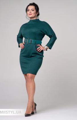 Платье F&K 3397-B Изумрудный/Меланж