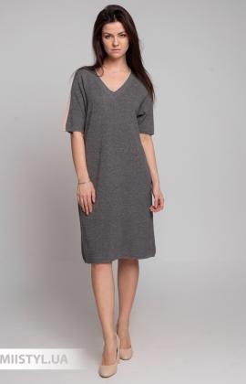 Платье Serianno 10С6672 Темно-серый/Люрекс