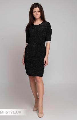 Платье Serianno 10С7326 Черный/Люрекс