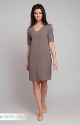 Платье Serianno 10С6672 Серый/Люрекс