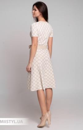Платье Beauty Women 01609 Молочный/Люрекс