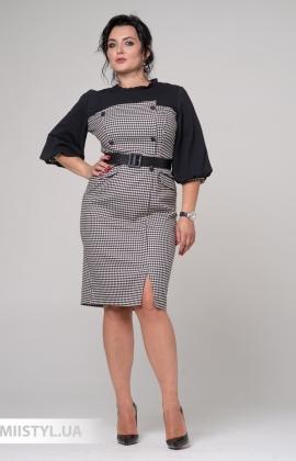 Платье Lady Morgana 5916 Черный/Белый/Лапка