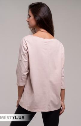 Блуза Giocco 5643 Пудра/Серебристый/Принт