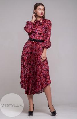 Платье Setre 19WE186 Красный/Леопард