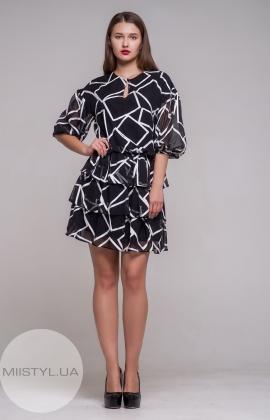 Платье Dojery 200919 Черный/Белый/Принт