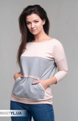 Блуза Giocco 7074 Пудра/Серый