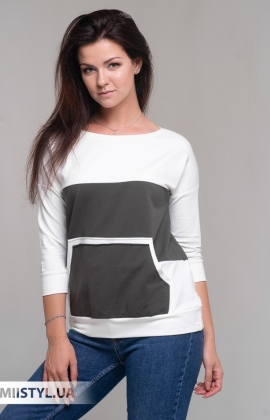 Блуза Giocco 7074 Молочный/Хаки