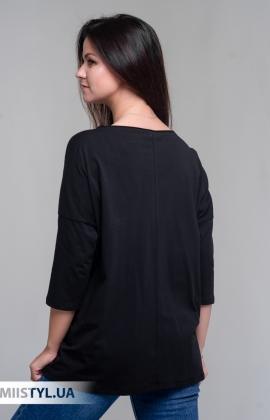 Блуза Giocco 5643 Черный/Серебристый/Принт