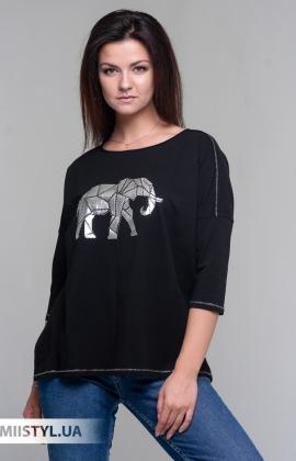 Блуза Giocco 5805 Черный/Серебристый/Принт