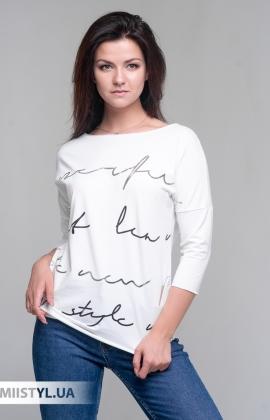 Блуза Giocco 5656 Молочный/Серебристый/Принт