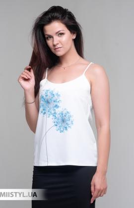 Блуза Esito 1566 Белый/Голубой/Принт
