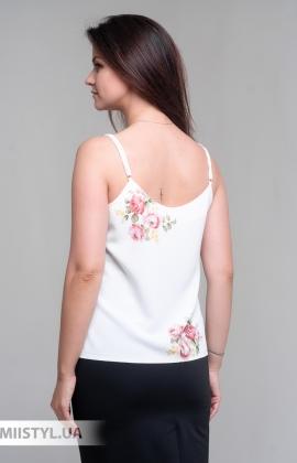 Блуза Esito 1563 Молочный/Розовый/Принт